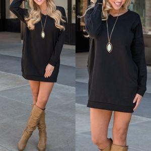 MARY KATE Sweater Dress - BLACK